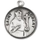 Saint Robert Sterling Silver Medal