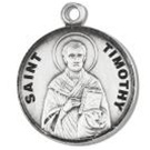 Saint Timothy Sterling Silver Medal