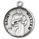 Saint William Sterling Silver Medal