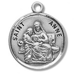 Saint Anne Sterling Silver Medal