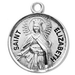 Saint Elizabeth of Hungary Sterling Silver Medal