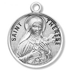 Saint Therese the Little Flower Sterling Silver Medal