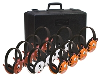 2810-12 Listening First Stereo Headphone 12 Pack with Case