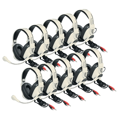 3066AV-10L Deluxe Multimedia Stereo Headset Ten-Pack