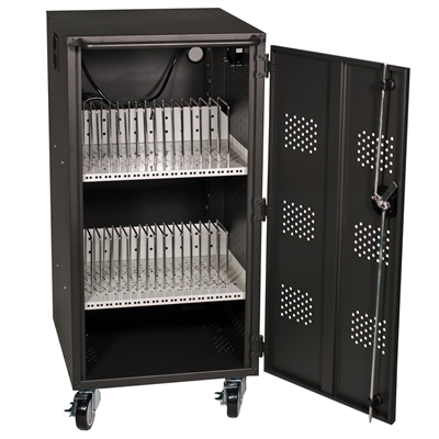 HamiltonBuhl 30 Bay Tablet, iPad and Chromebook Charging & Storage Cart