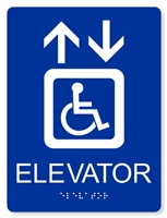 ADA Accessible Elevator Sign with Braille