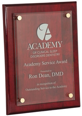 Floating Glass Award Plaque