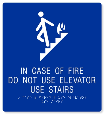 ADA In Case of Fire Use Elevator - 10X11""