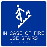 ADA In Case of Fire Use Stairs - 10X10""