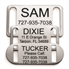 Slide-On Collar Pet ID Tag