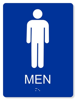 ADA MEN'S RESTROOM SIGN - 6X8""