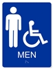 ADA ACCESSIBLE MEN'S RESTROOM SIGN - 6X8""