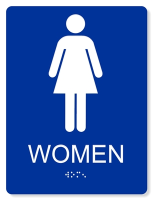 ADA WOMEN'S RESTROOM SIGN - 6X8""
