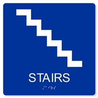 ADA STAIRS SIGN - 8X8""