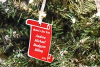 Personalized Santa's List Ornament