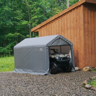 ShelterLogic Peak Style Grey Storage Shed, 6' x 12' x 8' / Model 70413