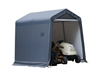 ShelterLogic Peak Style Grey Storage Shed, 8' x 8' x 8' / Model 70423
