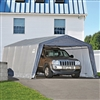 ShelterLogic Peak Style Grey Auto Shelter, 1-3/8-Inch 4-Rib Frame, 12' x 20' x 8' / Model 62690
