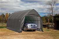 ShelterLogic Peak Style Grey SUV / Truck Shelter, 1-5/8-Inch 6-Rib Frame, 13' x 20' x 12' / Model 62693