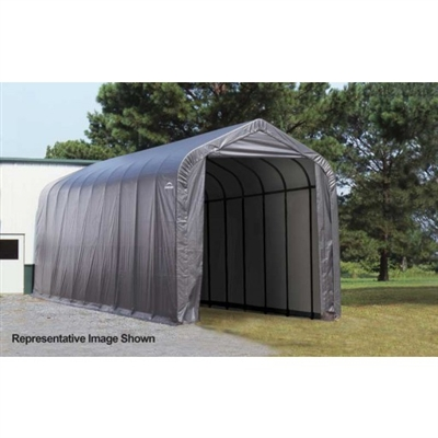 ShelterLogic 15' Wide x 20' Length x 12' Height Peak Style Shelter Grey Shed / Model 93530
