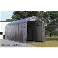 ShelterLogic 15' Wide x 24' Length x 12' Height Peak Style Shelter Grey Shed / Model 95370