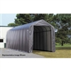ShelterLogic 15' Wide x 28' Length x 12' Height Peak Style Shelter Grey Shed / Model 75232
