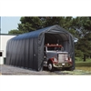 ShelterLogic 14' Wide x 44' Length x 16' Height Peak Style Shelter Grey Shed / Model 95943
