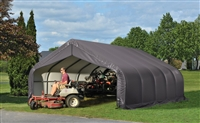ShelterLogic 18' Wide x 20' Length x 10' Height Peak Style Shelter Grey Shed / Model 80043