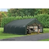 ShelterLogic 18' Wide x 28' Length x 12' Height Peak Style Shelter Green Shed / Model 80025