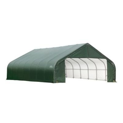 ShelterLogic 30' Wide x 20' Length x 16' Height Peak Style Shelter Green Shed / Model 86044