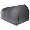 Shelterlogic Outdoor Garage Automotive Boat Car Vehicle Storage Shed 12' Wide  x 28' Length  x 11' Height Grey Barn Shelter / Model 90253