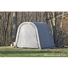 ShelterLogic Round Style Shed/Storage Grey Shelter - 12ft.L x 10ft.W x 8ft.H / Model 77813