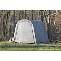 ShelterLogic Round Style Shed/Storage Grey Shelter - 16ft.L x 10ft.W x 8ft.H / Model 77823