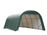 ShelterLogic Round Style Shed/Storage Green Shelter - 24ft.L x 12ft.W x 8ft.H / Model 72342