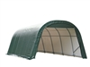 ShelterLogic Round Style Shed/Storage Green Shelter - 28ft.L x 13ft.W x 10ft.H / Model 90234