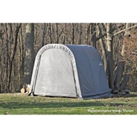 ShelterLogic Round Style Shed/Storage Grey Shelter - 16ft.L x 11ft.W x 10ft.H / Model 77821