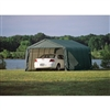 ShelterLogic 13' Wide x 20' Length x 10' Height Peak Style Shelter Green Shed / Model 73442