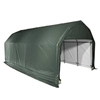 Shelterlogic Outdoor Garage Automotive Boat Car Vehicle Storage Shed 12' Wide  x 28' Length  x 9' Height Green Barn Shelter / Model 97254