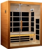 Dynamic Marseille 3 Person Ultra Low EMF Infrared Sauna
