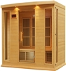 Maxxus 4 Person Near Zero EMF Infrared Sauna - Canadian Hemlock