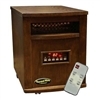 SUNHEAT TW1500 Electric Portable Infrared Heater with Remote Control - Cherry