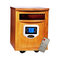 Original SUNHEAT USA1500 Heater with Remote Control - Golden Oak