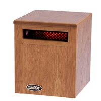 The Original SUNHEAT SH-750 Electronic Infrared Room Heater, Golden Oak