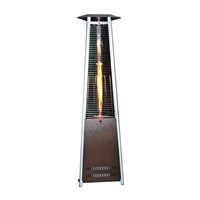 SUNHEAT Triangle Variable Flame Patio Heater with a Golden Hammered Finish
