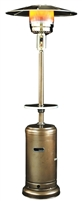 SUNHEAT Classic Umbrella Design Portable Propane Patio Heater - Golden Hammered