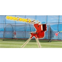 Heater Sports Softball Pitching Machine and Xtender 24' Length Home Batting Cage / HTRSB699