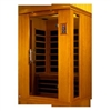Dynamic 2 Person Far Infrared Hemlock Wood Sauna Venice II / DYN-6210-01