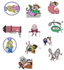 ALICE IN WONDERLAND EMBROIDERY MACHINE DESIGNS - PACK OF 11 - 4X4 CARTOON DISNEY COLLECTION
