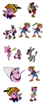 PINOCCHIO EMBROIDERY MACHINE DESIGNS - PACK OF 12 - FREE EMAIL DELIVERY - 4X4 CARTOON