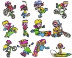 ROCKET POWER EMBROIDERY DESIGNS - PACK OF 12